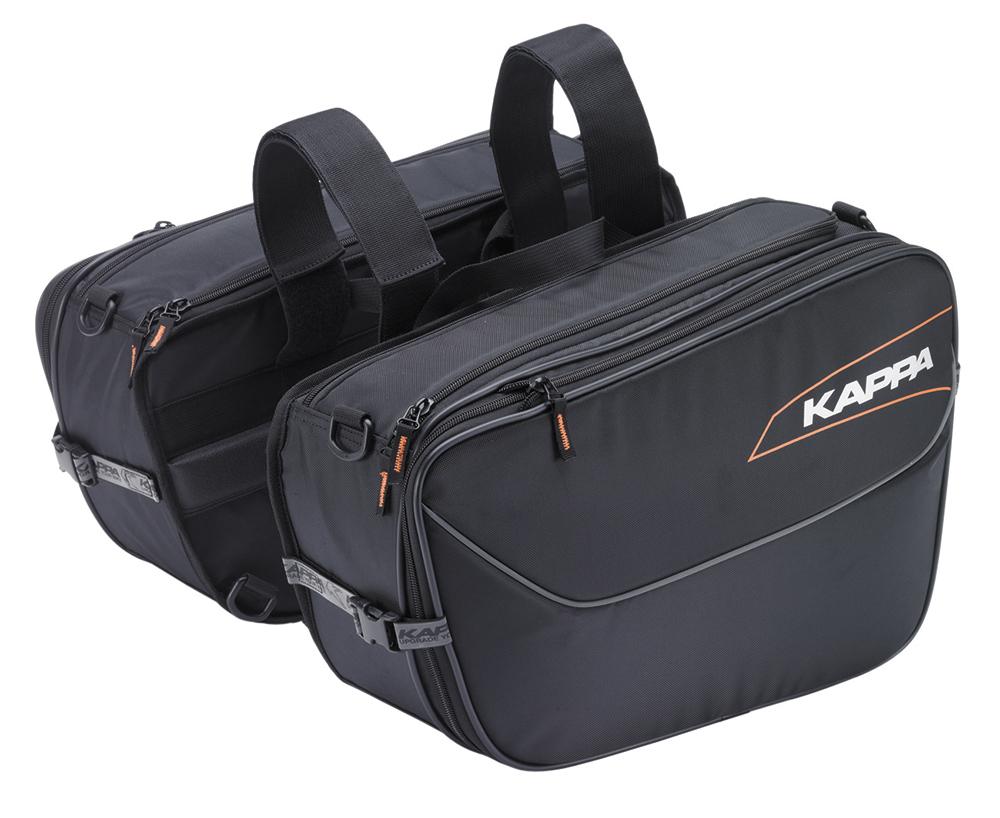 Alforjas laterales moto Kappa LH202 con capacidad de 16 a 25 Lts.