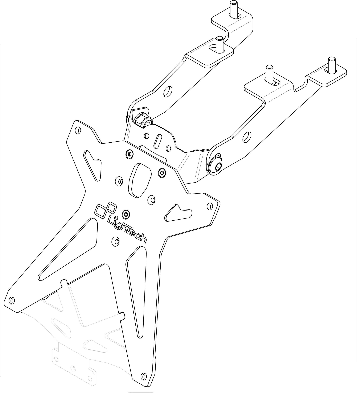 Portamatrículas Lightech para Suzuki GSR750 11-13