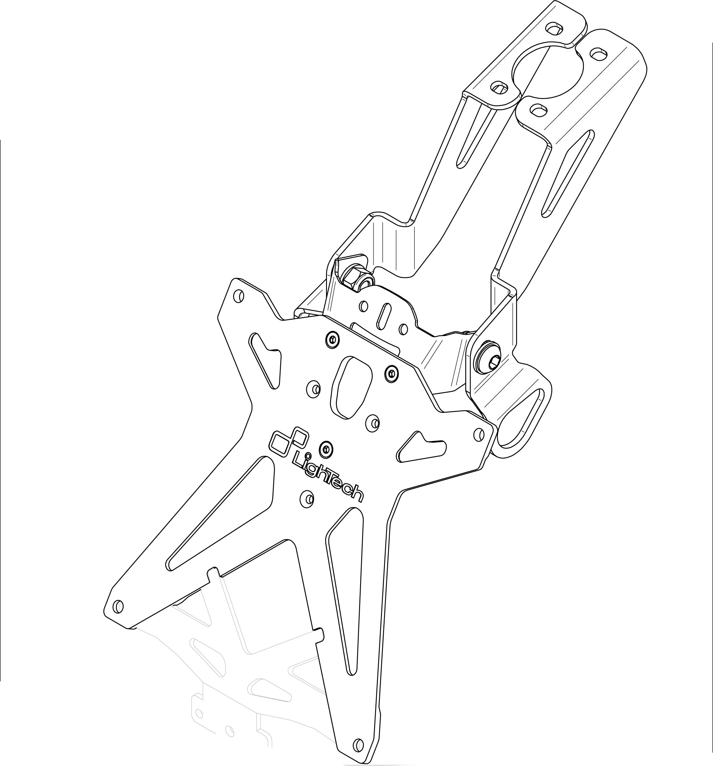 Portamatrículas Lightech para Yamaha R6 06-15 / R1 04-08 Intermitentes Originales