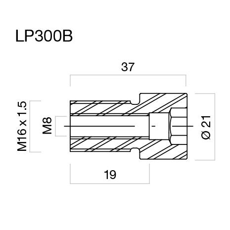 Adaptador de retrovisores en puños y Proguard System Rizoma para Yamaha (unid.)