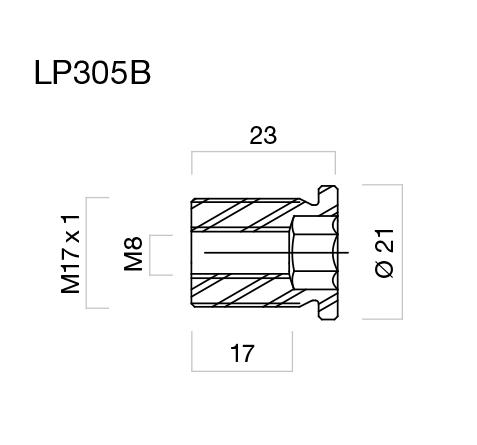 Adaptadores de retrovisores para muños Rizoma LP305B para Kawasaki (unid.)
