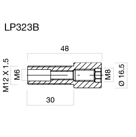Adaptador para contrapesos, protector de maneta y retrovisores para puños Rizoma LP323B para BMW C600 Sport 12> (unid.)