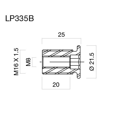 Adaptadores de retrovisores para puños Rizoma LP335 para MV Agusta (unid.)