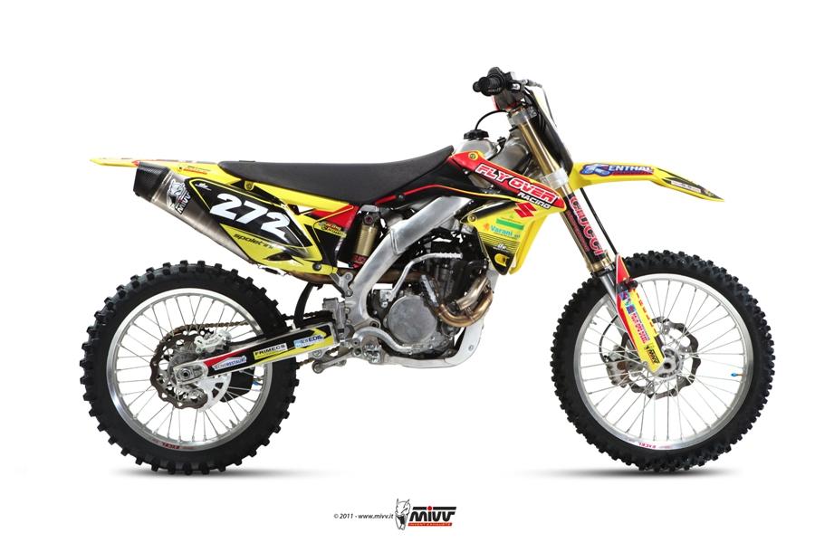 Escape completo NO homologado Mivv Stronger en acero inox. para Suzuki RMZ 250 11-12