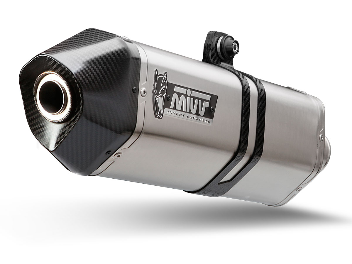 Escape homologado Mivv Speed Edge en acero inox para Kymco AK 550 2017>