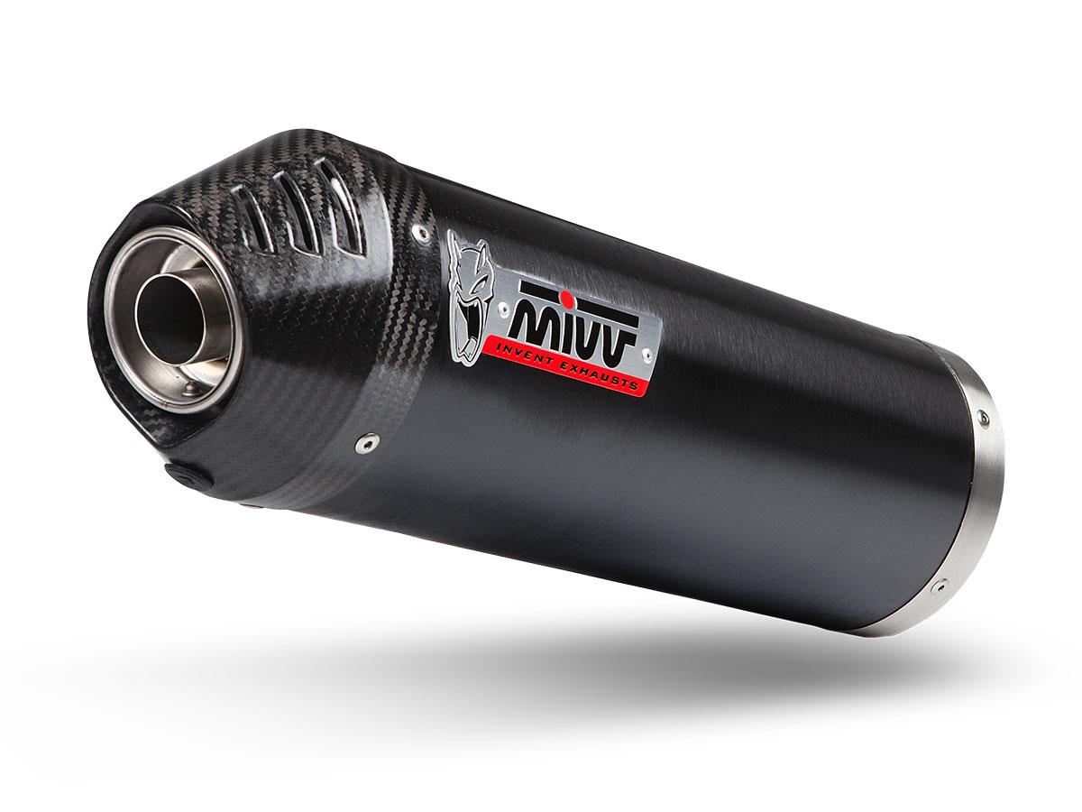 Escape completo homologado Mivv Oval en acero negro para Kymco AK 550 2017>