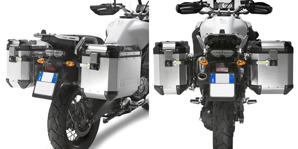 Soportes laterales Givi Trekker Outback Monokey Cam-Side PL2119CAM para Yamaha XT 1200 Z / ZE Super Tenere 10-20