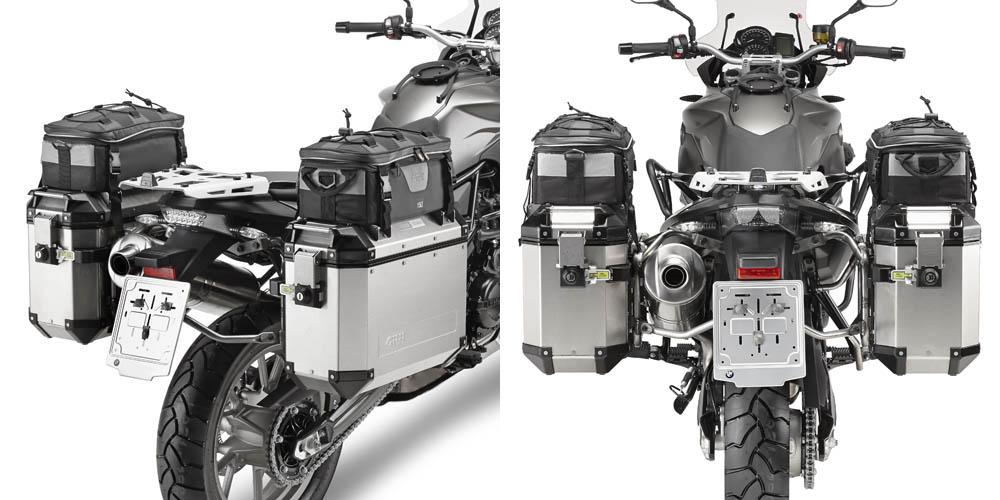 Soporte de maletas laterales Givi Trekker Outback Monokey Cam-Side para moto BMW F 650 / 800 GS 08> y BMW F 700 GS 13>
