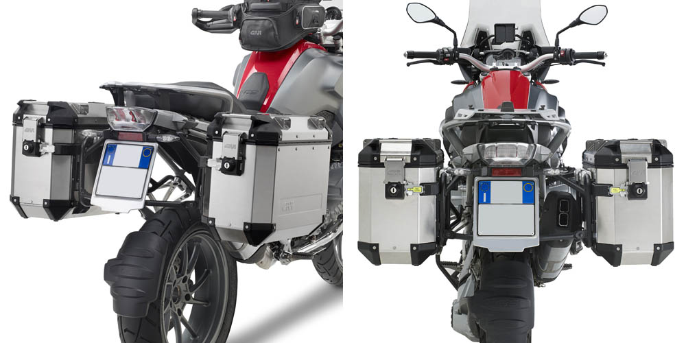 Soportes laterales Givi Trekker Outback para BMW R 1200 GS 13-18  /  Adventure | R 1250 GS 18-19 / Adventure