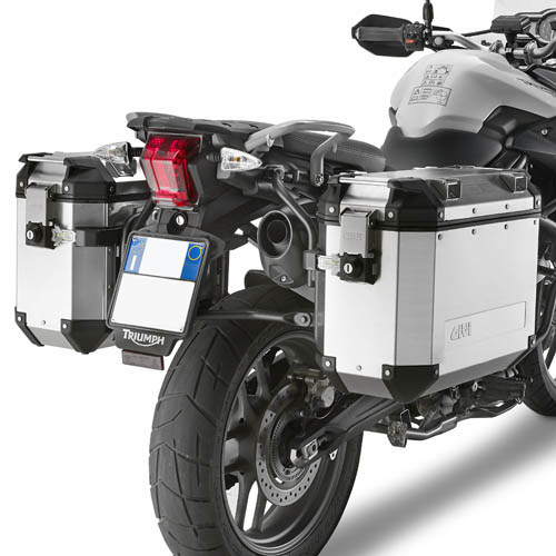 Soporte de maletas laterales Givi Trekker Outback Monokey Cam-Side para moto Triumph Tiger 800 / XC 2011>