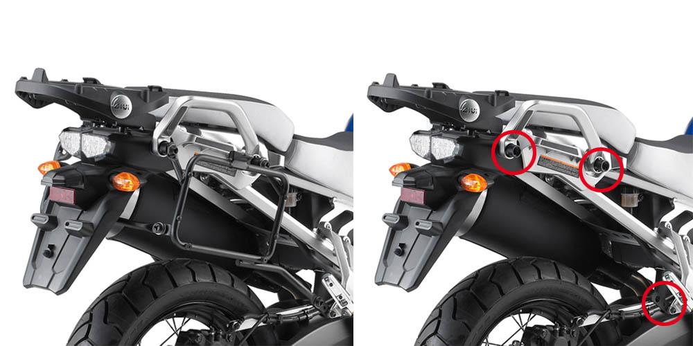 Soporte de maleta lateral Givi Monokey PLR2119 para Yamaha XT 1200 Z / ZE Super Teneré 10-20