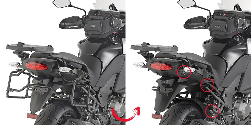 Soporte de maletas laterales Givi Monokey PLR4113 para moto Kawasaki Versys 1000 2015>