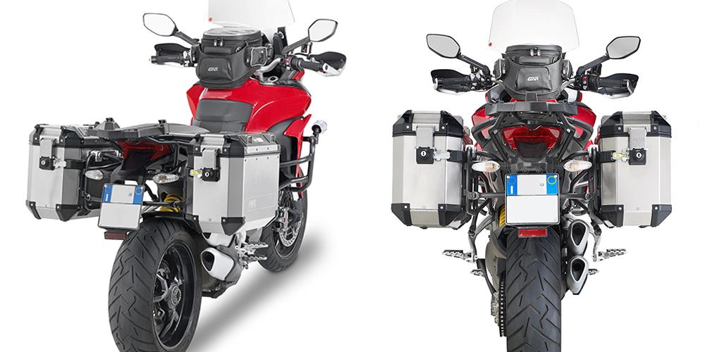 Soporte de maletas laterales desmontable Givi para DUCATI Multistrada 1200 15> / Multistrada Enduro 1200 16> / Multistrada 950 2017