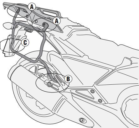 Soporte de maletas laterales Givi Monokey Side PLX1120 Para moto Honda Integra 700 12-13