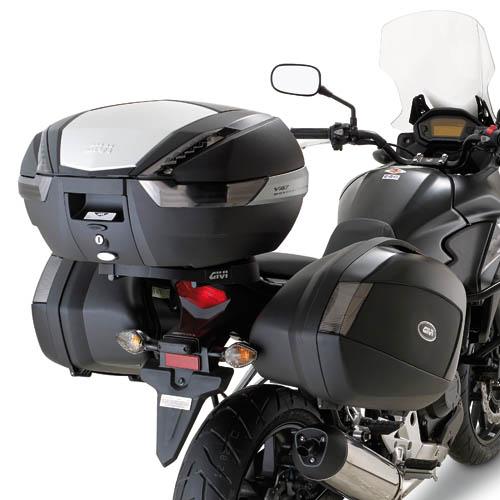 Soporte de maletas laterales Givi Monokey Side PLX1121 Para moto Honda CB 500X 2013>