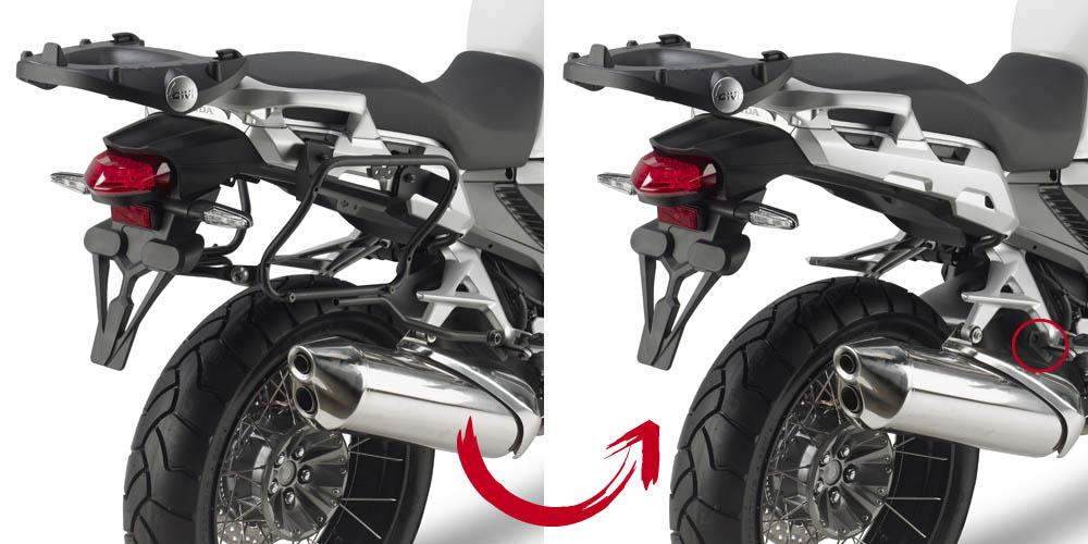 Soporte de maletas laterales Givi Monokey Side PLXR2110 para moto Yamaha XJ6 600 2013