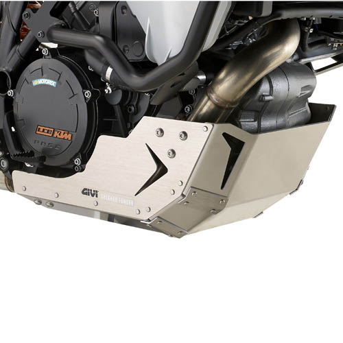 Cubrecarter Givi RP7703 fabricado en aluminio para KTM 1050 / 1090 Adventure 15-19 | 1190 Adventure 13-16 | 1290 Super Adventure 17-20