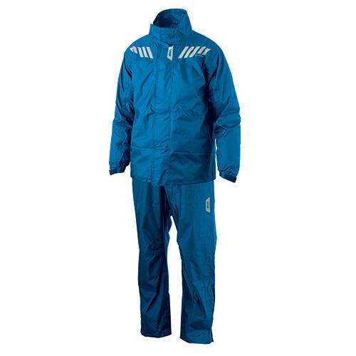 Mono divisible Ridertech Blue Givi RRS04EXB compuesto de pantalón azul y chaqueta azul