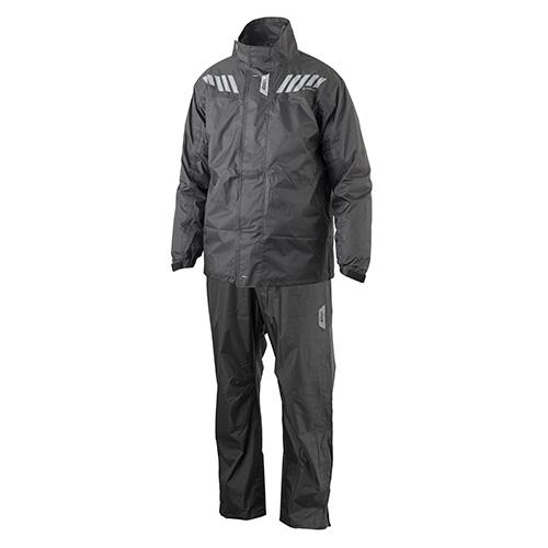 Mono divisible Ridertech Black Givi RRS04EXN compuesto de pantalón negro y chaqueta negro