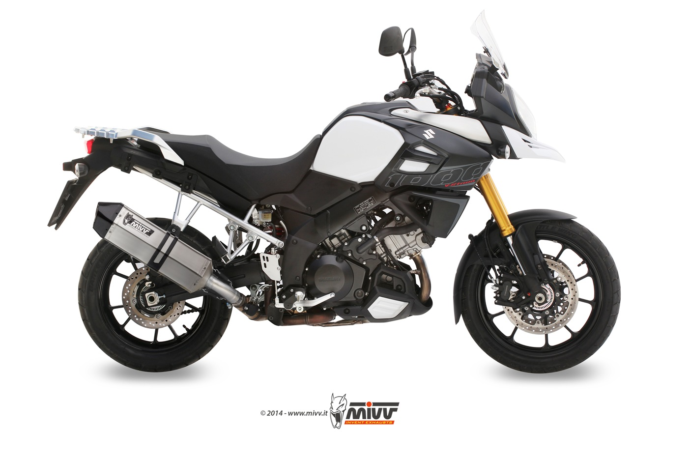 Escape homologado Mivv Speed Edge Acero inox para Suzuki DL V-STROM 1000 14-20/DL V-STROM 1050 20-20