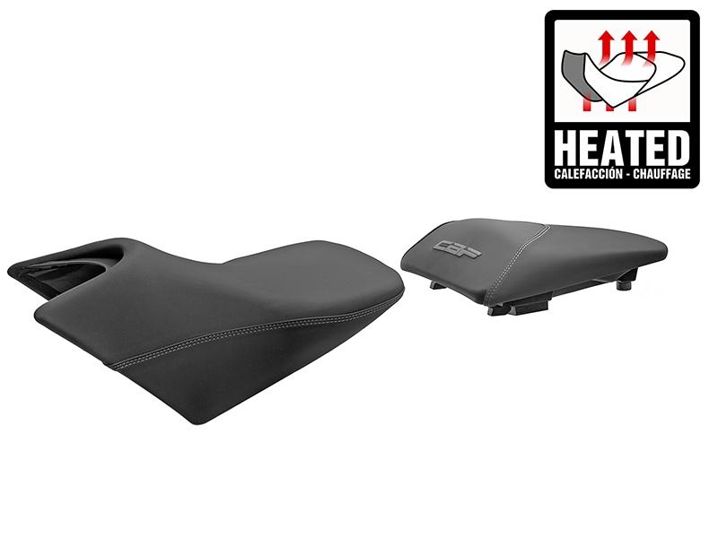 Asiento calefactable SHAD Confort negro/gris para Honda CBF600 08-12 / CBF1000 2012