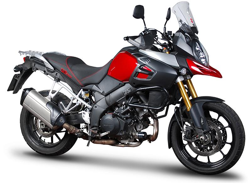 Asiento calefactable SHAD Confort negro/rojo para Suzuki V-Strom 1000 14-17