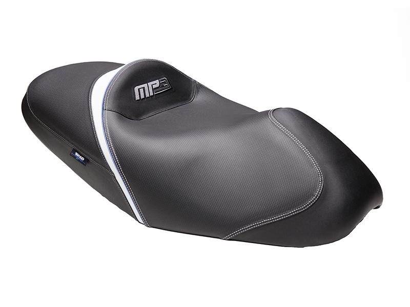 Asiento SHAD Confort negro/blanco para Piaggio MP3 07-13