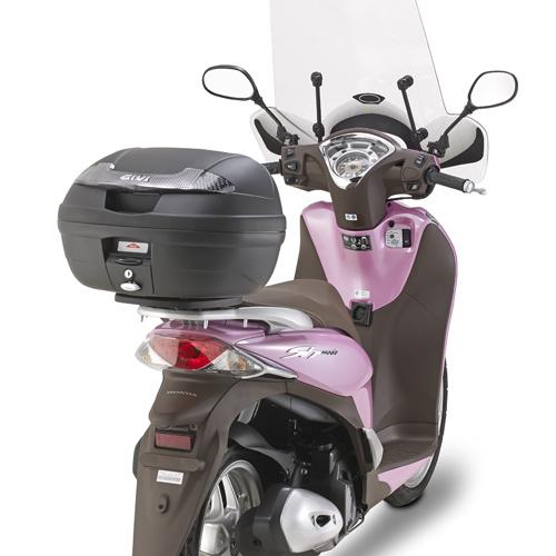 Soporte de baúl trasero Givi Monolock SR1125 para moto Honda SH Mode 125 13>