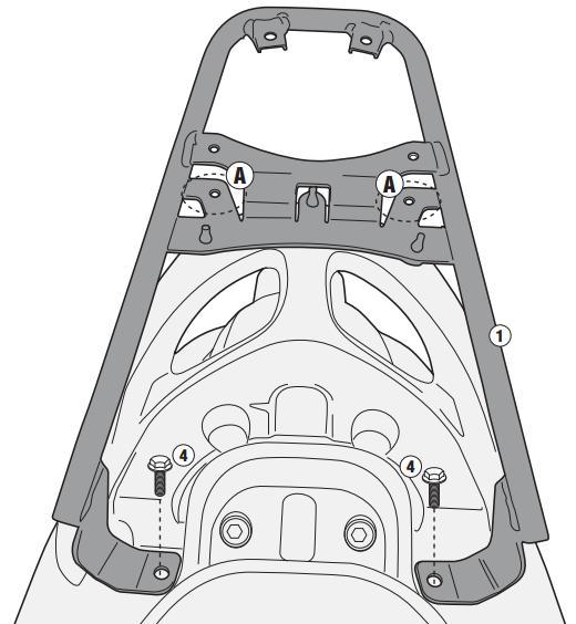 Soporte de baúl trasero Givi Monolock SR2114 Para moto Yamaha Delight 114 13> y MBK Flipper 114 13-14