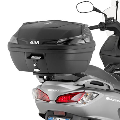 Soporte de baúl trasero Givi Monolock SR3106 para moto Suzuki Burgman 125 / 200 2006>