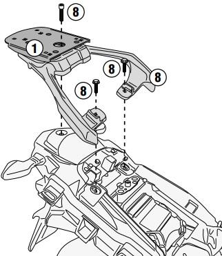 Soporte maleta Givi para V-Strom 250 2017>