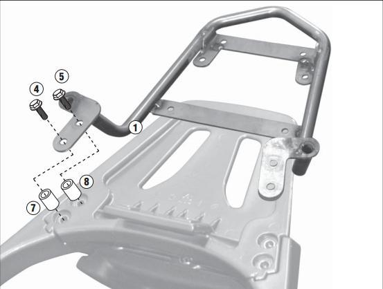 Soporte de baúl trasero monolock Givi SR6101 para moto Kymco G-Dink / Yager125-300 12-17
