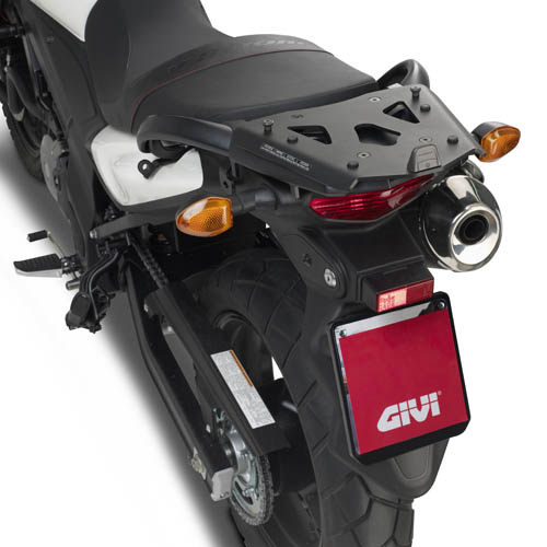 Soporte de baúl trasero Givi Monokey SRA3101 fabricado en aluminio para moto Suzuki DL 650 V-Strom 2011-2016