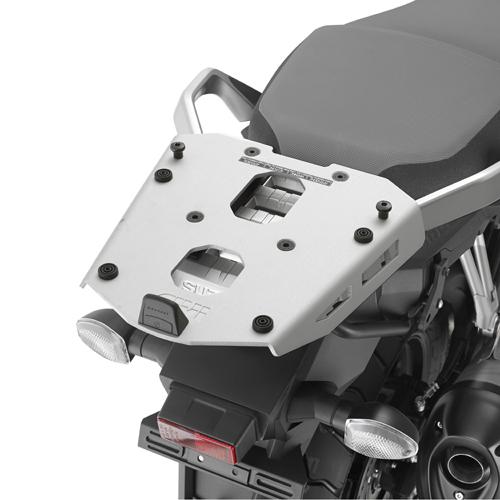 Soporte de baúl trasero Givi Monokey SRA3105 fabricado en aluminio para moto Suzuki DL 1000 V-Strom 2014-16