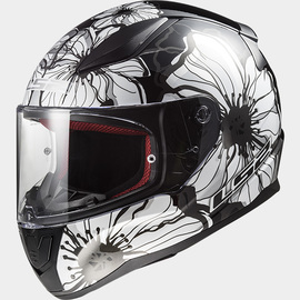 Casco integral LS2 Rapid Poppies Negro/Blanco