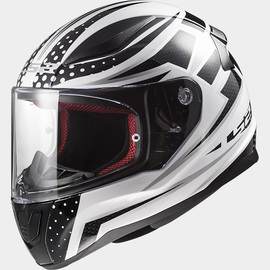 Casco integral LS2 Rapid Carborace Negro/Blanco