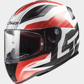 Casco integral LS2 Rapid Grid Blanco/Rojo/Negro