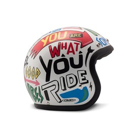 Casco jet DMD Vintage Words