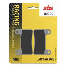 Pastillas de freno SBS 806DC de compuesto Dual Carbono