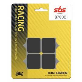 Pastillas de freno SBS 870DC de compuesto Dual Carbono