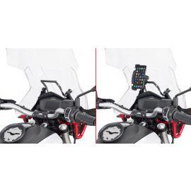 Barra soporte Givi FB8203 para GPS/Smartphone en Cúpula para Guzzi V85TT 19
