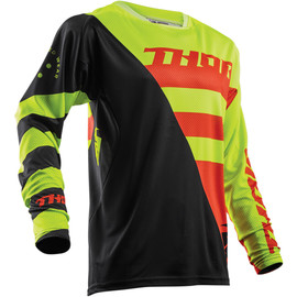 Camiseta cross Fuse Air Rive THOR Lima/naranja