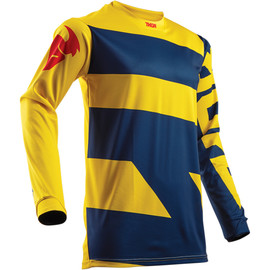 Camiseta cross Pulse level THOR Azul marino/amarillo