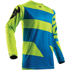 Camiseta cross Pulse level THOR Azul eléctrico/lima