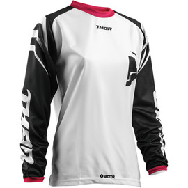 Camiseta cross mujer Sector Zones THOR Blanco/negro/rosa
