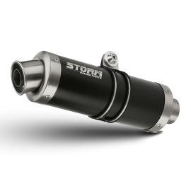 Escape homologado Storm GP Acero negro para SUZUKI GSX-S 750 17-20