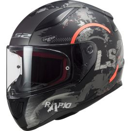Casco LS2 FF353 Rapid Circle Titanio / Naranja Mate