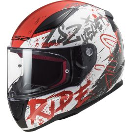 Casco LS2 FF353 Rapid Naughty Blanco / Rojo