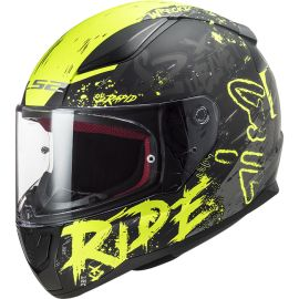 Casco LS2 FF353 Rapid Naughty Negro / Amarillo Hi-Vis Mate