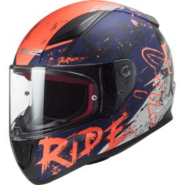 Casco LS2 FF353 Rapid Naughty Azul / Naranja Mate
